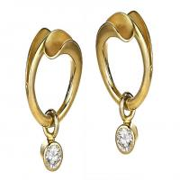 Sash earrings in gold with diamonds