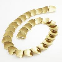 Autumn leaf necklace in gold