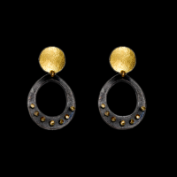 Spangles outline drop earrings