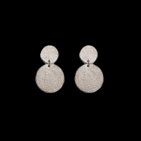 priya himatsingka flat paper drop silver large earrings