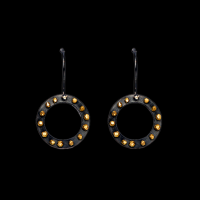 Spangles small outline round hook earrings