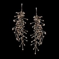 stamen silver hook earrings