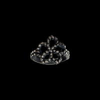 Victoria 5-petal flower ring (patina)