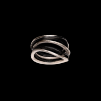Class 5-stack ring: 3 silver, 2 patina
