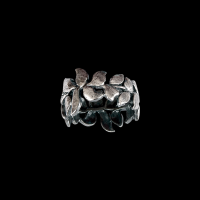 Wisteria large silver ring (patina)