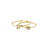 petite baguette ring