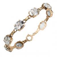 1950s aquamarine gold line bracelet
