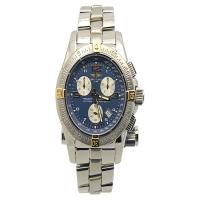 Breitling Emergency Mission B73321 Stainless Steel Blue Dial Quartz 45mm Mens Watch