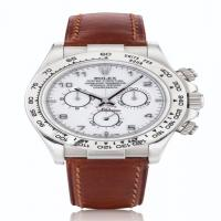 Rolex Daytona, Ref 116519 White Gold Chronograph Wristwatch Circa 2000
