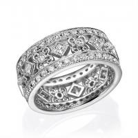 18K White Gold Ladies Fashion Ring with 1.52ctw Round Diamonds