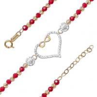 Yellow & White Gold Bracelet with CZ - 14K - BLG761