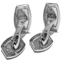 Art Deco Cuff Links 18K