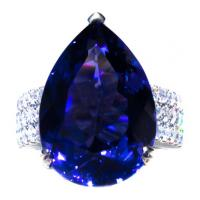 12.5 ct. Tanzanite & Diamond 18k Ring