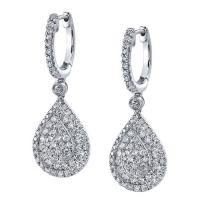 Classic pear shaped diamond earrings