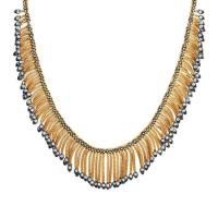 fred leighton 18kt yellow gold & diamond foxtail chain necklace