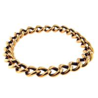 hollow gold link bracelet
