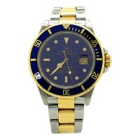 ROLEX TRANSITIONAL SUBMARINER 16803 BLUE DIAL 40MM STEEL BUCKLE MENS WATCH