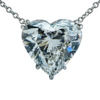 4.50 Carat Heart Diamond And Platinum Necklace - V23314