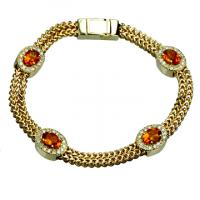14ky citrine & diamond bracelet 7