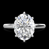 ANNABELLE OVAL ENGAGEMENT RING