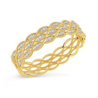 3 ROW BANGLE WITH DIAMONDS