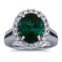 5 5/8 Carat Tourmaline & Diamond Ring in 14k ...