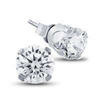 1 5/8 carat diamond stud earrings in 10k gold