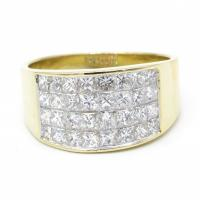 princess cut invisible set diamond ring