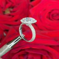 chelsea oval engagement ring