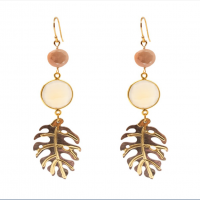 Monstera Stone Earrings