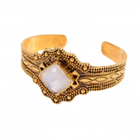 Large Tribal Moonstone Bangle