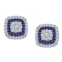 dress blues® diamond and sapphire framed earrings