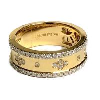 Gold Flower Diamond Band