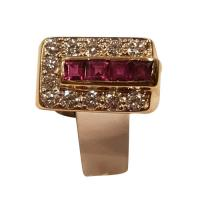 14 KT Gold Ruby and ...