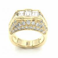 6.20 cttw 18k yellow gold & diamond ring