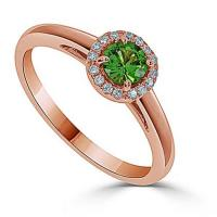 14kt Rose Gold Halo Engagement Ring – J30351