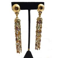18 K Yellow Gold Tassel Earrings