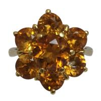 18 k yellow gold madeira citrine ring