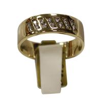 Men's classic yellow gold ring