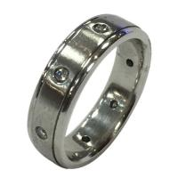 Men's statement platinum ring