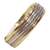 Men's 18k and platinum band ring