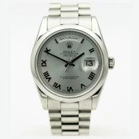 Rolex ref 118206 president day date glacier dial platinum men's watch with bp