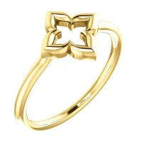 four petal gold ring