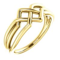 Tri twined gold ring