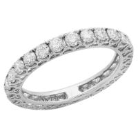 Eternity band wedding band