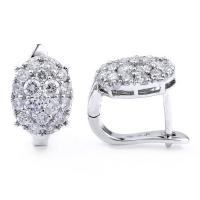 Sparkling diamond oval stud earrings
