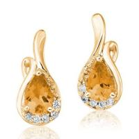 Lady's yellow 14 karat earrings