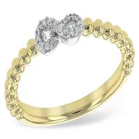 14k yellow gold .06 cttw g-h si1 infinity diamond ring