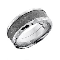 Lashbrook colbalt chrome & meteorite 10mm wedding band