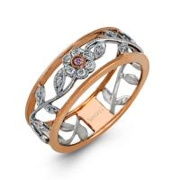 18k white and rose gold band .09d .01pd